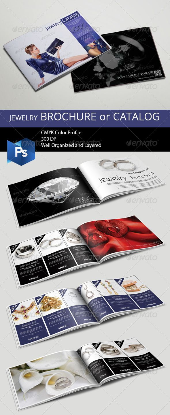 Jewelry BrochureCatalog  Brochures Brochure Template And