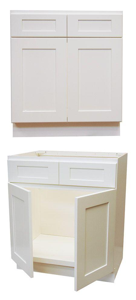 Elegant White Shaker Bathroom Vanities Rta Cabinet