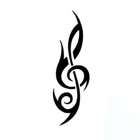 treble clef unique treble clef tattoo art if i ever get a tattoo pinterest treble. Black Bedroom Furniture Sets. Home Design Ideas