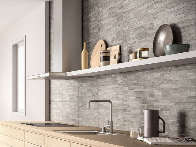 Rivestimento cucina effetto cemento minimal arkistar pavimenti