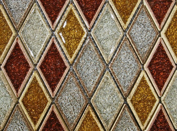 Glass Kiln Fired On Ceramic This Is Not Recommended For Showers As The Crazing In The Glass Could Tile Backsplash Glass Tile Backsplash Beautiful Glass Tile