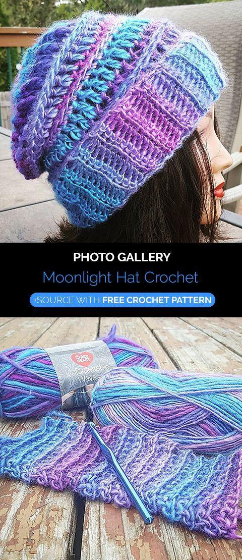 Moonlight Hat Crochet | Handarbeiten | Pinterest | Häkeln, Hut ...