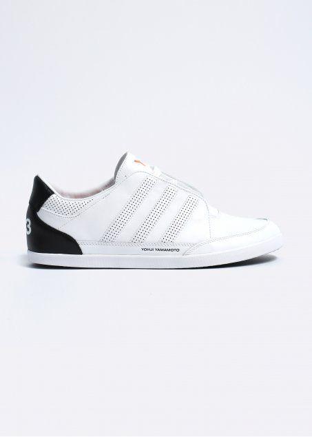 371db6e14255b Y3 Adidas Yohji Yamamoto Honja Classic II Leather Trainers Running White  Black