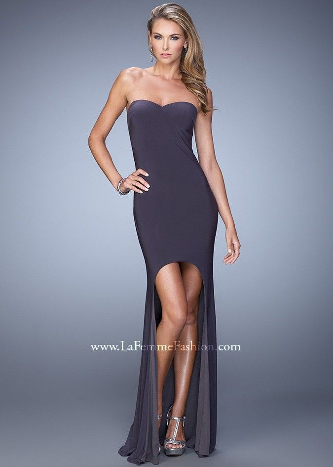 La Femme 21251 Fitted High Low Dress | Spring Into Fashion | Pinterest