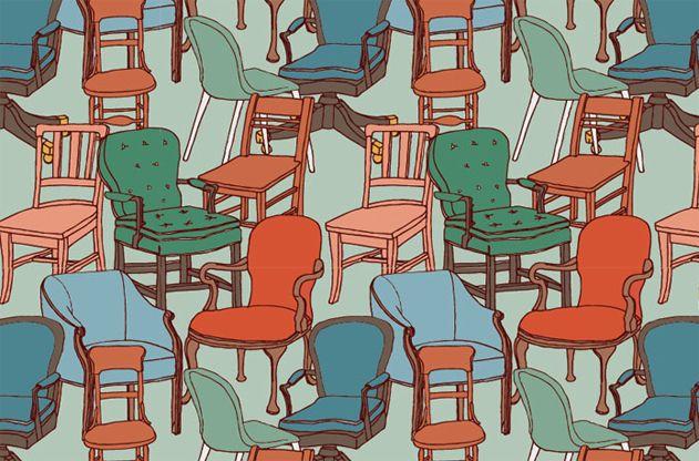 Julia Rothman Repeating Chair Pattern