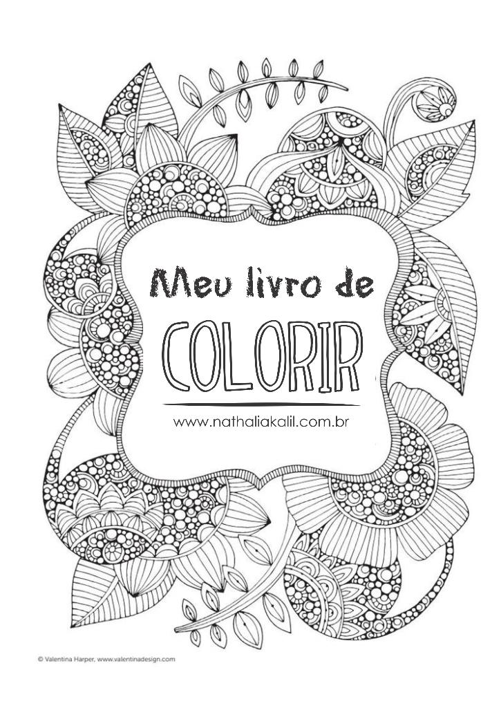 Livro para colorir para adultos grátis em PDF | ♥ Lifestyle ...