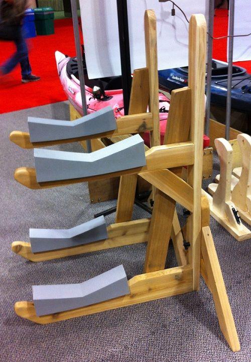 Double Cedar Kayak Rack | Kayak rack, Kayak storage rack ...