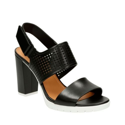 8bc310f69 Pastina Malory Black Leather - Clarks® Sandals for Women - Clarks® Shoes