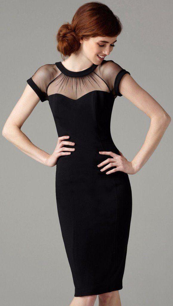 Vestido Negro Corte Chanel Vestidos De Punto 2019