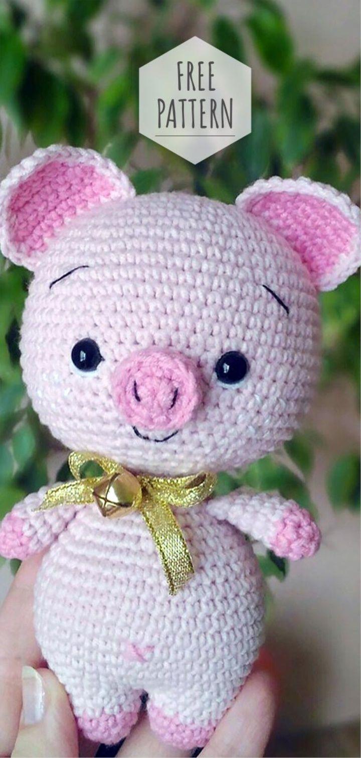 Amigurumi Little Piggy Free Pattern #amigurumifreepattern