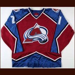 Peter Forsberg 1996-97 Colorado Avalanche Game Worn Jersey  b9ba1f8c63f