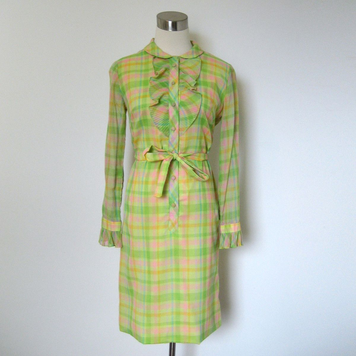 Fab 60s Artwork: 60s Lois Young Neon Shirtdress