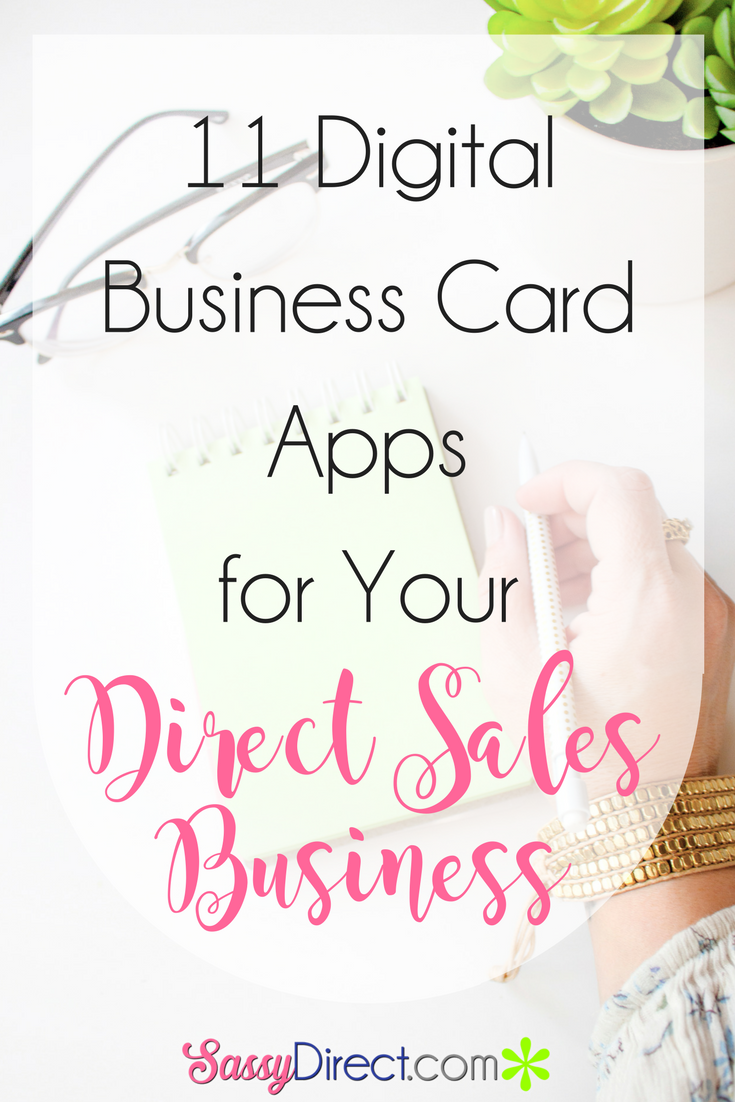 Using digital business cards for your direct sales or home-based ...