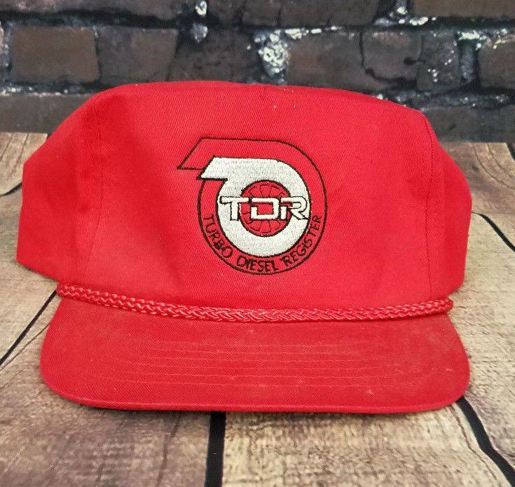 51568bd4 Vintage TDR Turbo Diesel Trucker Hat Snapback Baseball Cap 90s #SPORTSMAN # Trucker