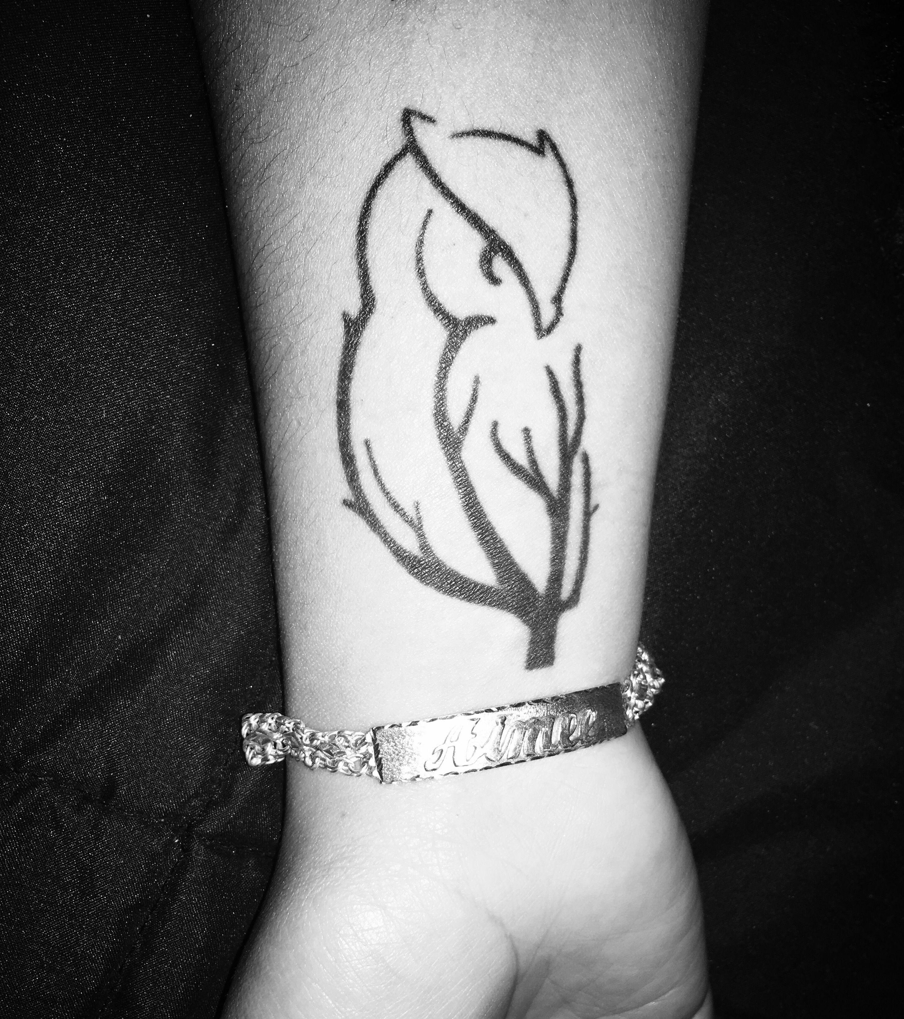 Owl Tattoos On Wrist: Branch/Owl , Wrist Tattoo.