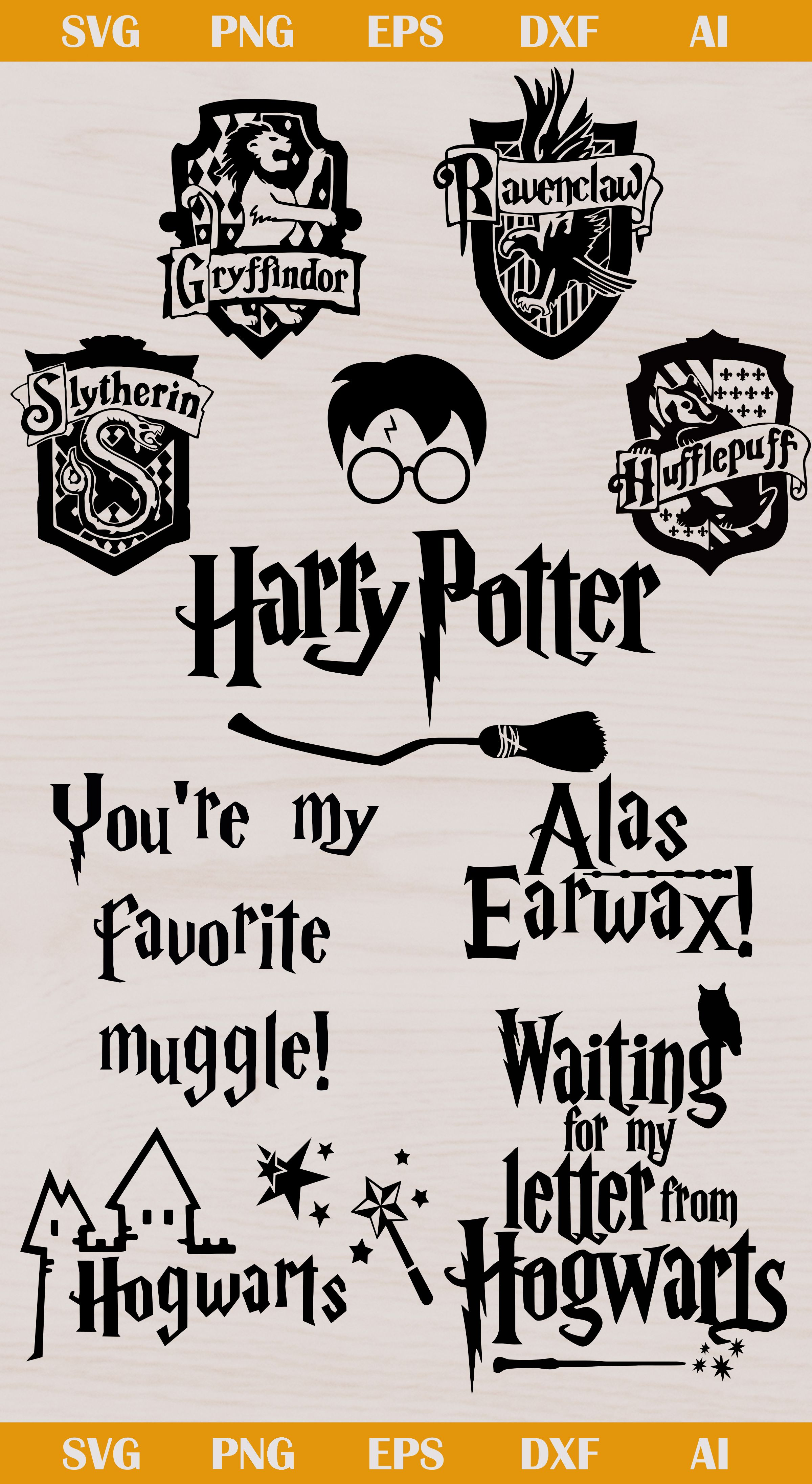 Free Harry Potter Svg Files : harry, potter, files, Harry, Potter, Cricut,, Clipart,, Silhouette, Silhouette,, Cricut