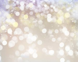 Soft holiday blurred lights background.
