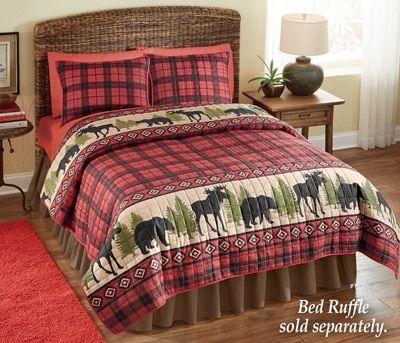 Woodland Cabin Moose Quilt | Moose quilt, Moose and Cabin : moose quilt - Adamdwight.com