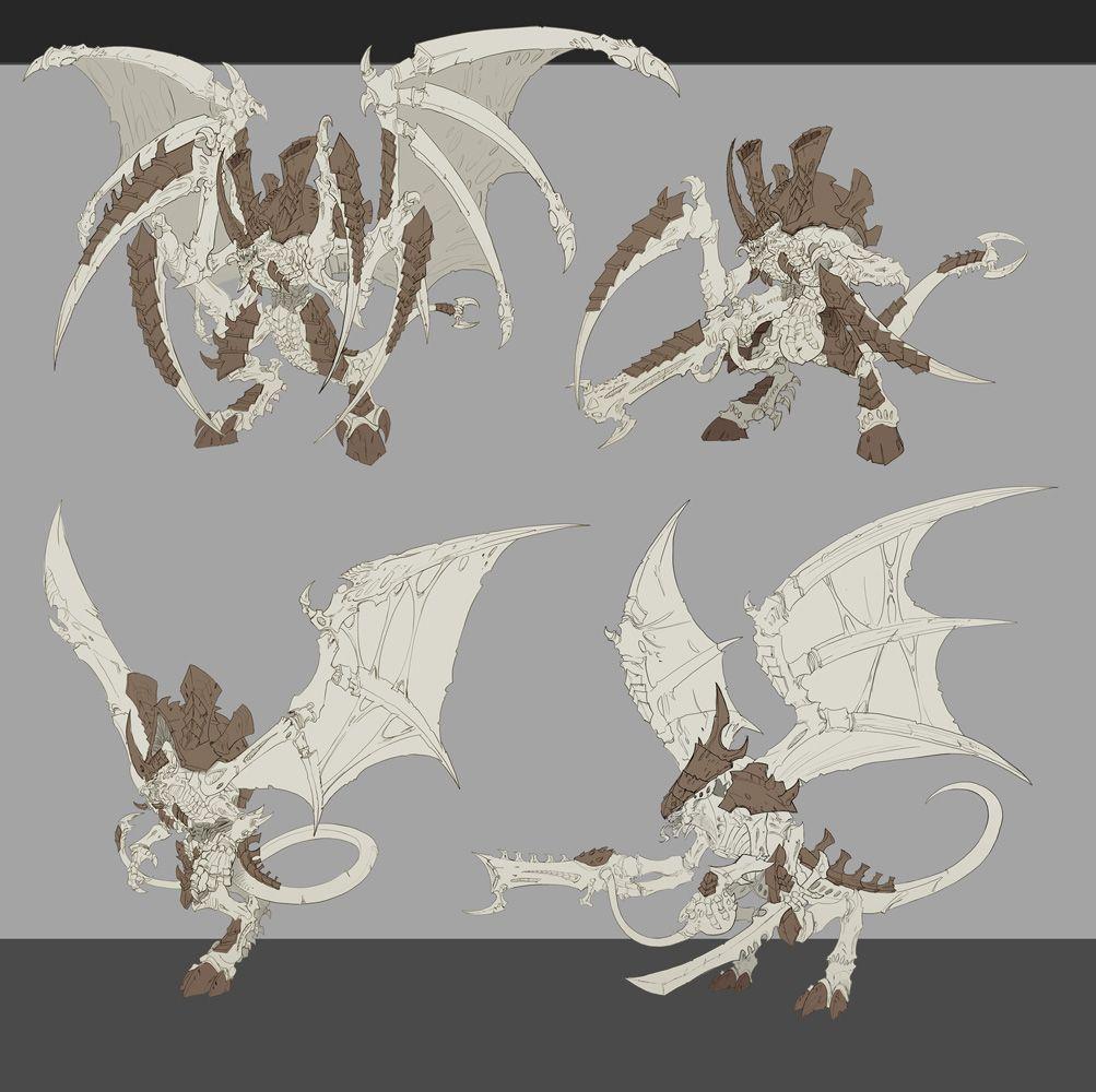 Hive Tyrant/Tyranid-Prime. | Concept art characters, Tyranids ...