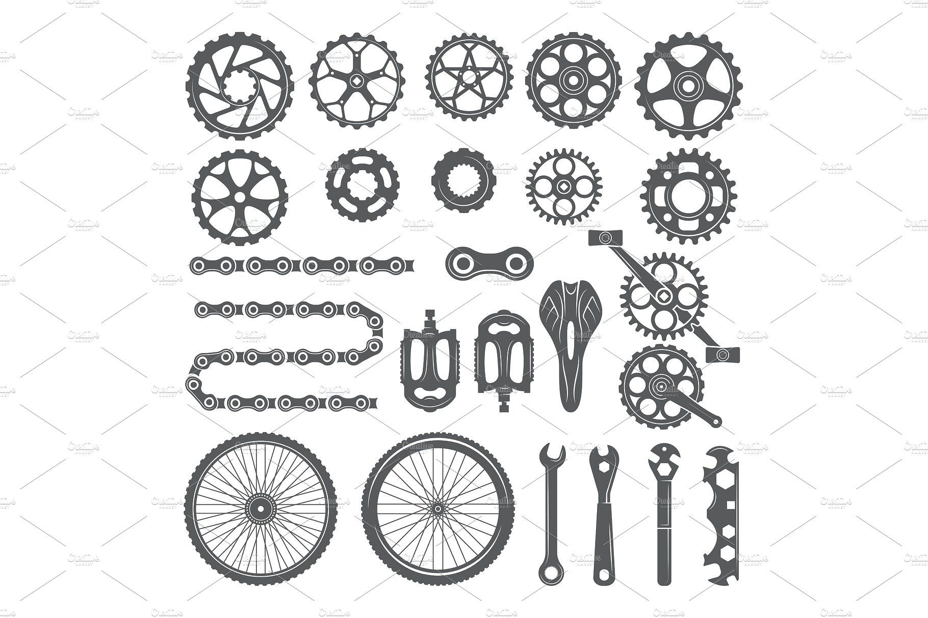 Gears Chains Wheels And Other Different Parts Of Bicycle Gear