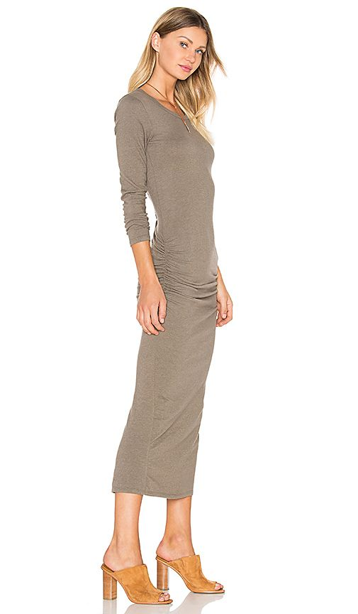 25f61fcfa1f0a7 Shop for James Perse Skinny Split Dress in Ammo at REVOLVE. Free 2-3 day…