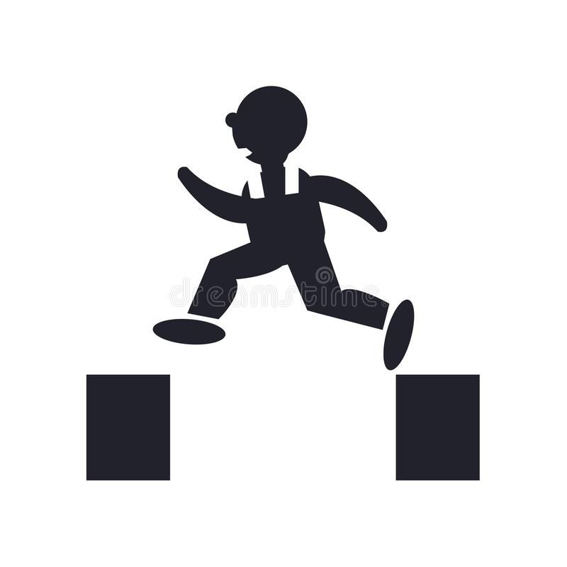 Man Jumping Icon Vector Sign And Symbol Isolated On White Background Man Jumping Logo Concept Stock Illustr Logo Concept Stick Figure Drawing White Background