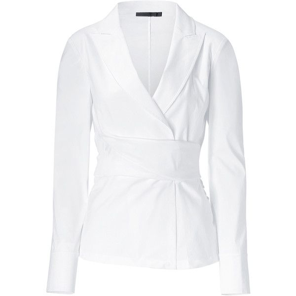 b8de42692c6fc DONNA KARAN White Wrap And Twist Top found on Polyvore. I ve probably  pinned this before but I can t help myself