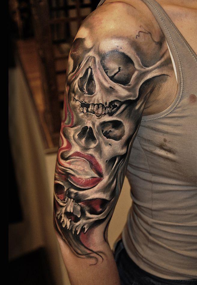 Skull In Smoke Tattoo Ideas 2 Smoke Tattoo Tattoos Skull
