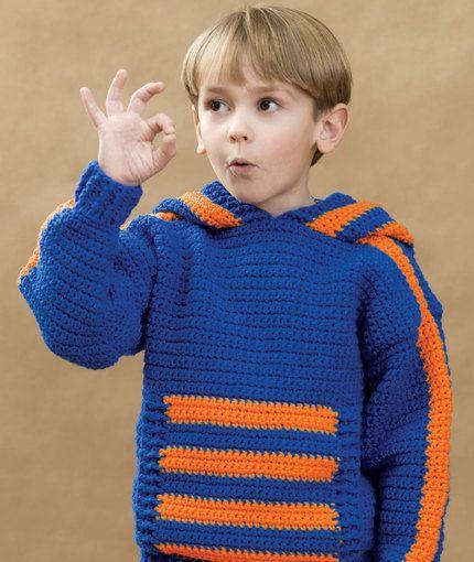 Sports Crochet Hoodie Crochet Pattern Red Heart Crochet
