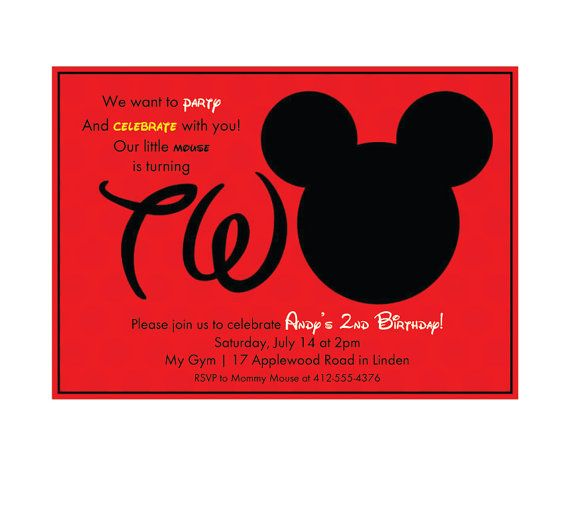 Instant download editable mickey mouse 2nd birthday party instant download editable mickey mouse 2nd birthday party invitation editable in word stopboris Choice Image