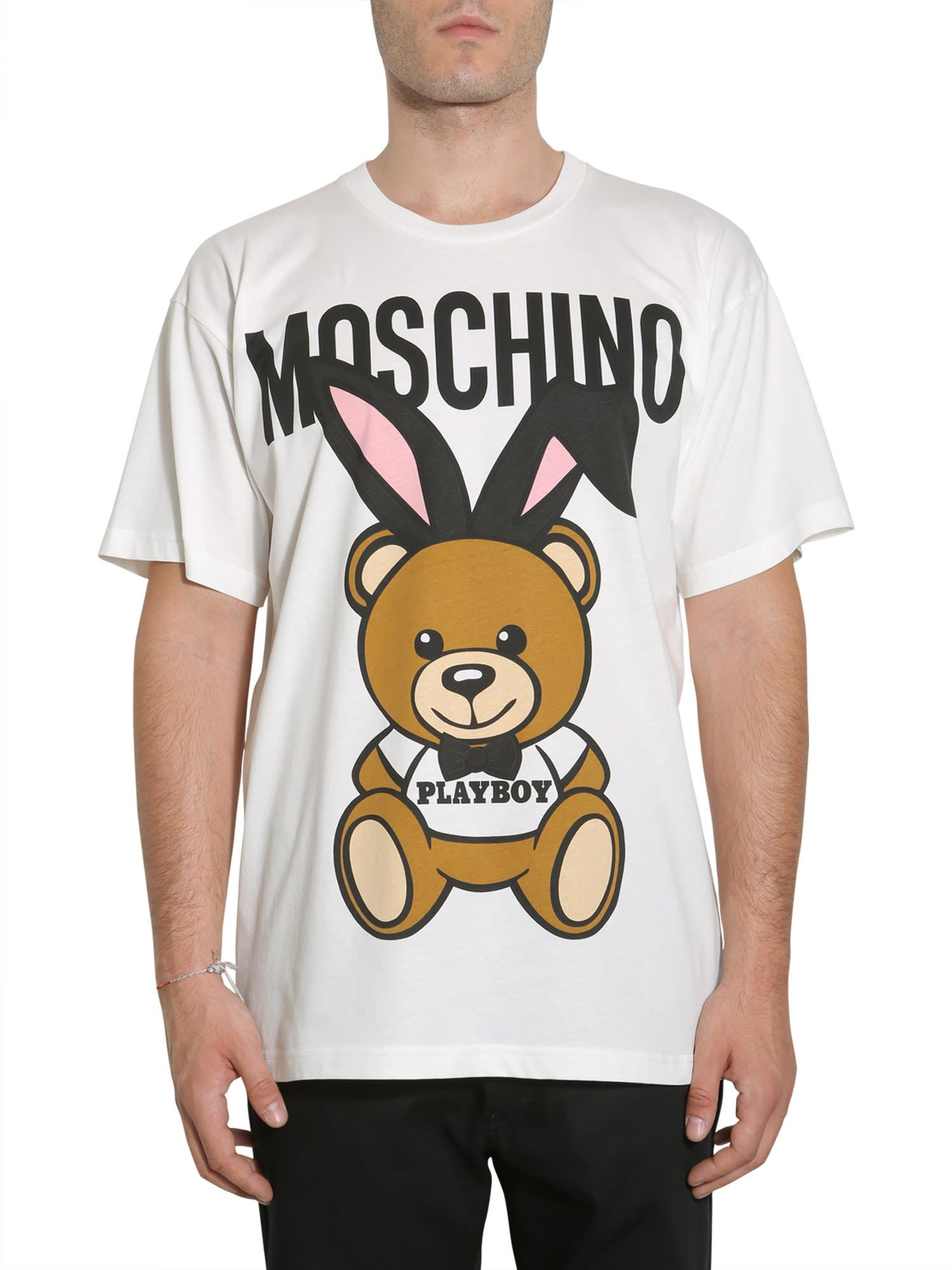 225348432 MOSCHINO PLAYBOY TEDDY BEAR T-SHIRT.  moschino  cloth