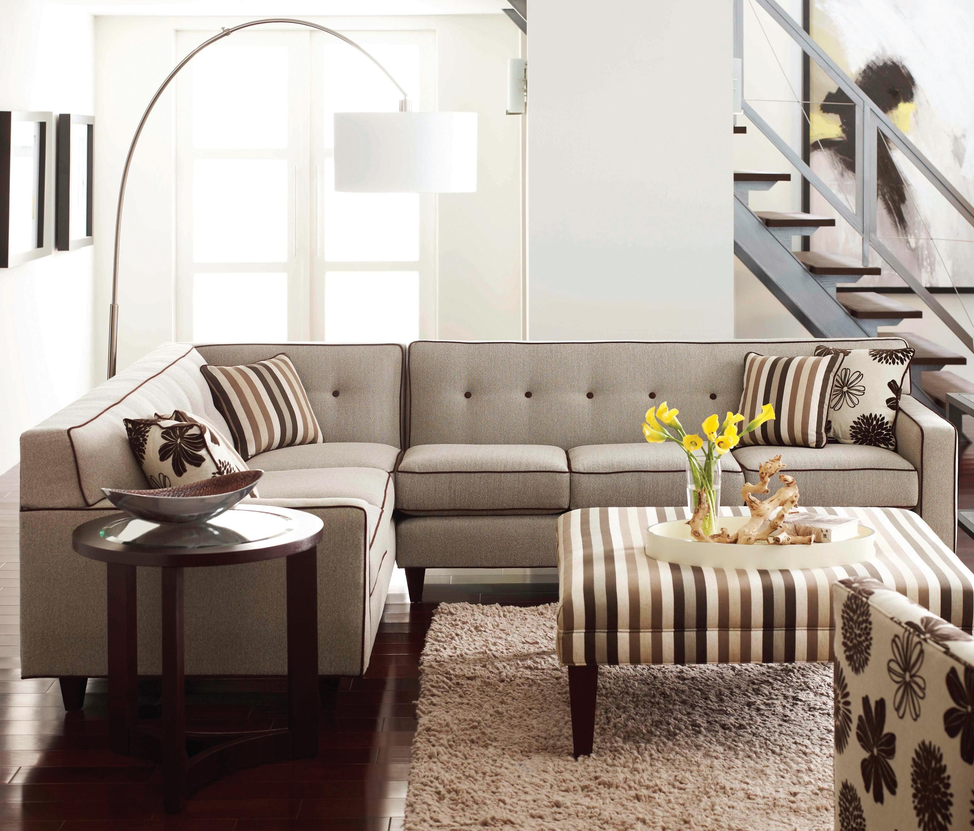 Dorset Corner Sectional With Wooden Legs By Rowe Ahfa Sofa Dealer Locator