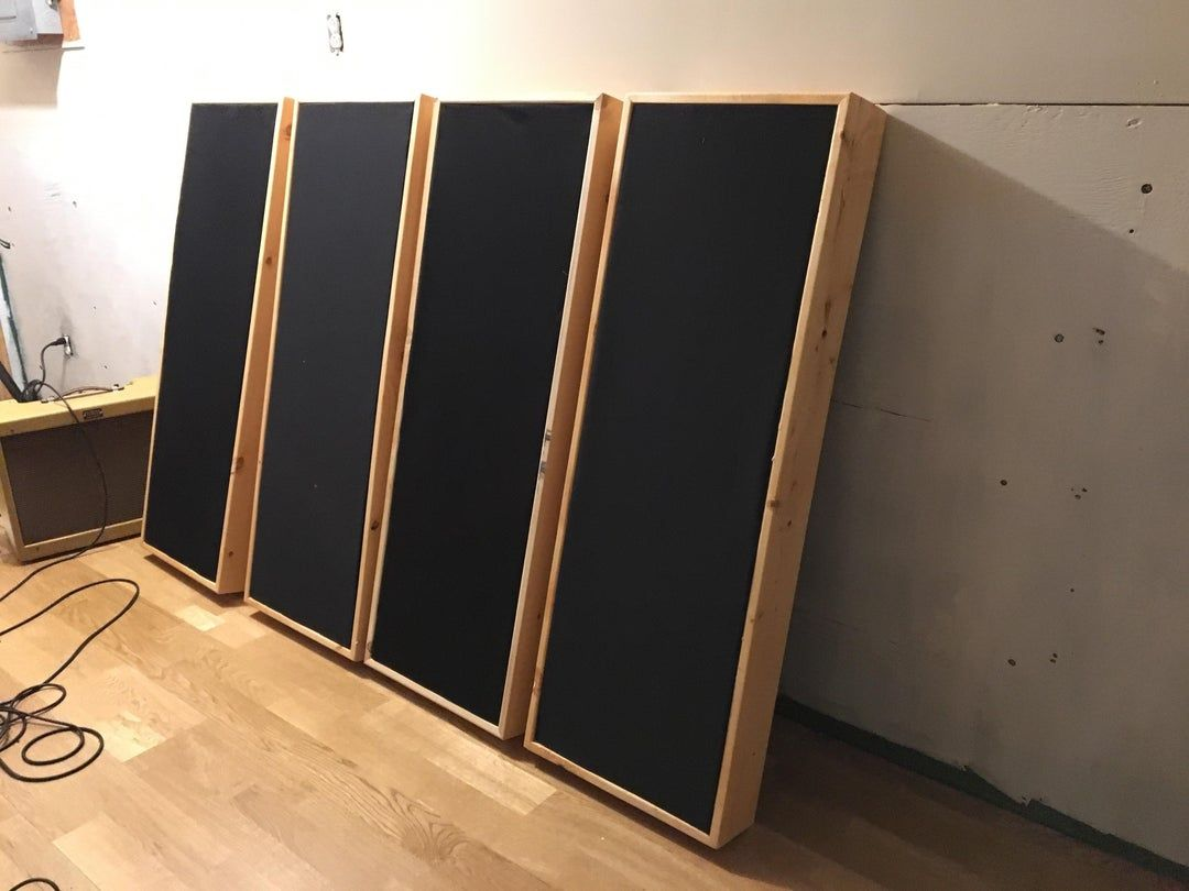 Reddit Woodworking My First Acoustic Treatments For My Studio Are Complete My First Time In 2020 Home Recording Studio Setup Home Studio Music Acoustic Panels Diy