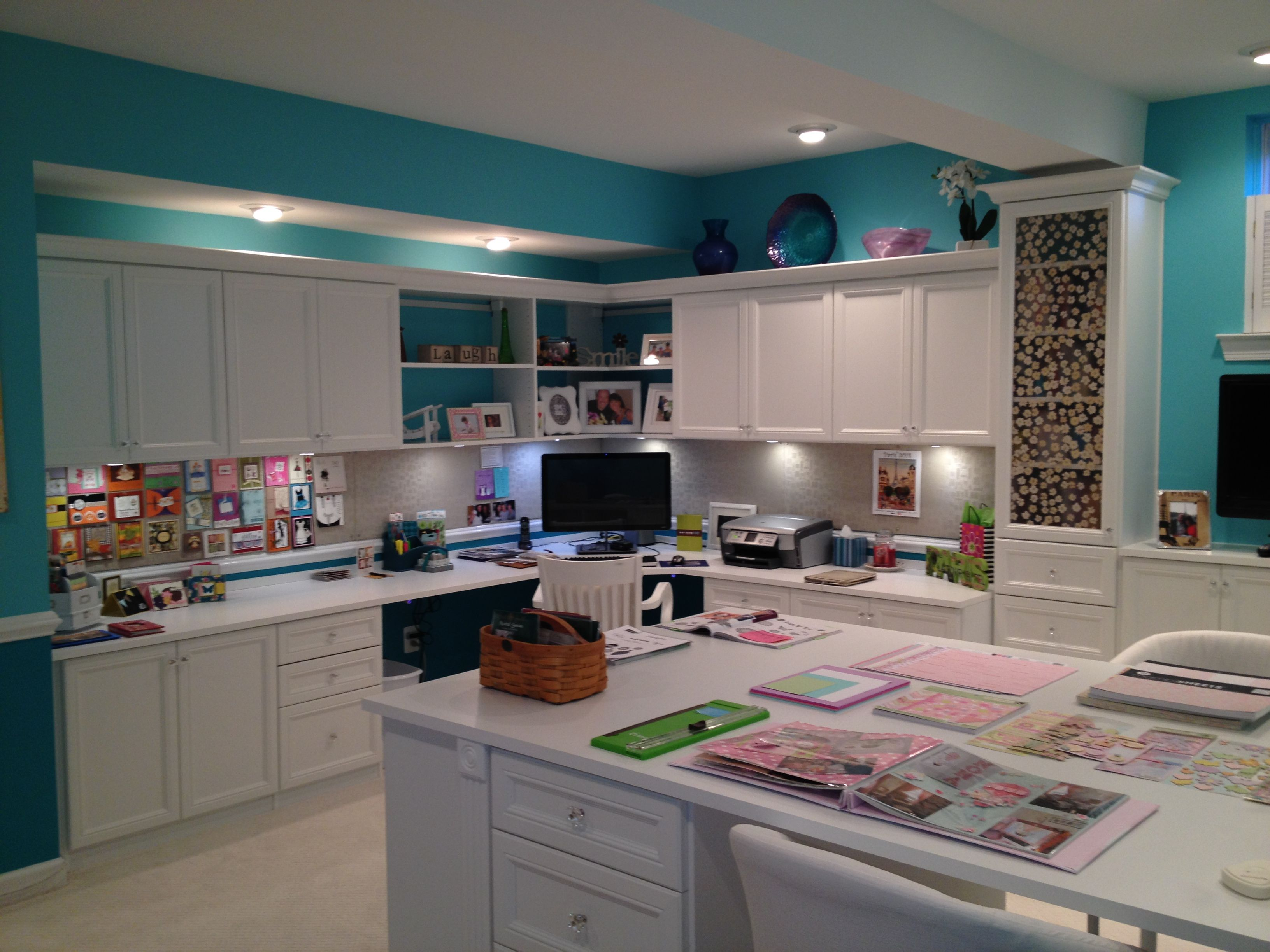 Home Craft Room: Home Office And Craft Room