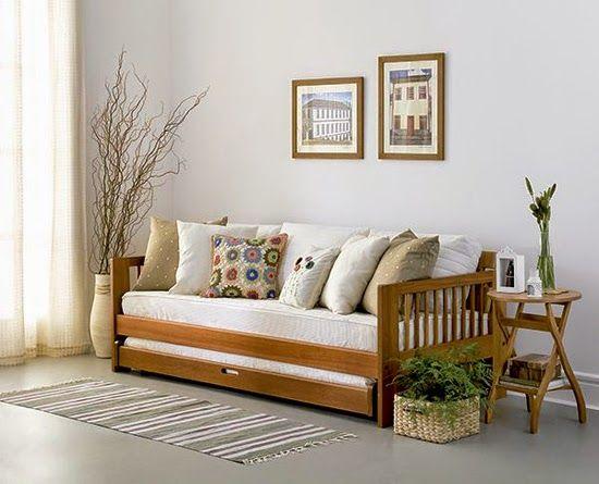 Como transformar cama em sof decoraci n pinterest for Sofa cama de una plaza y media