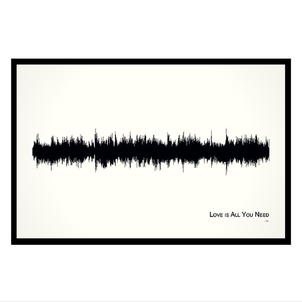 Love is All You Need - 11x17 Framed Soundwave print. Beatles ...