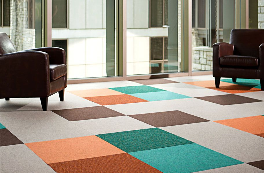 Svelte Carpet Tiles Bright And Colorful Commercial Grade Floor