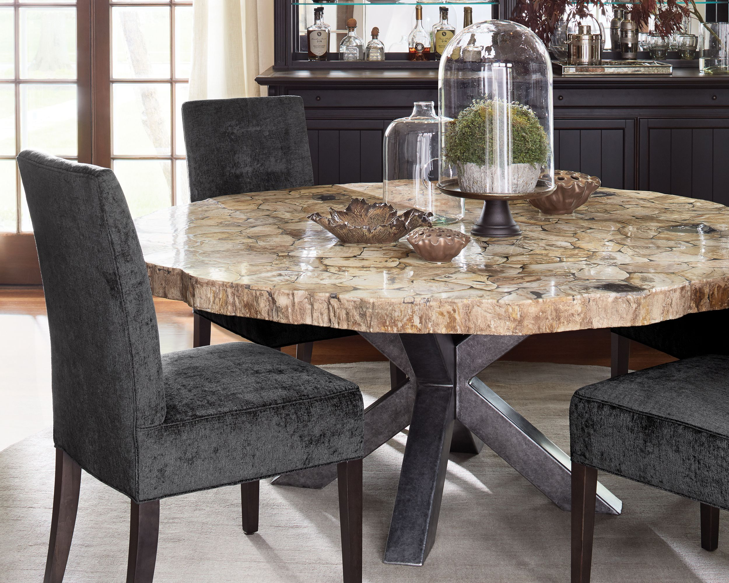 Why You Should Choose Petrified Wood To Decorate Your Home Wood Dining Room Table Round Dining Table Dining Table