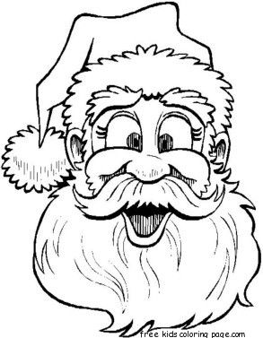 printable santa claus face colouring page for kids  santa coloring pages merry christmas