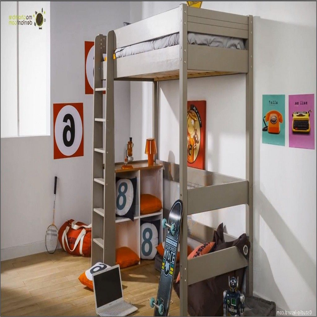Deco Chambre Ado Avec Lit Mezzanine  Lit mezzanine, Home decor