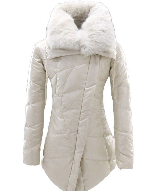 b574e7c54 Moncler Lontre Down Jacket Women in White | The Look
