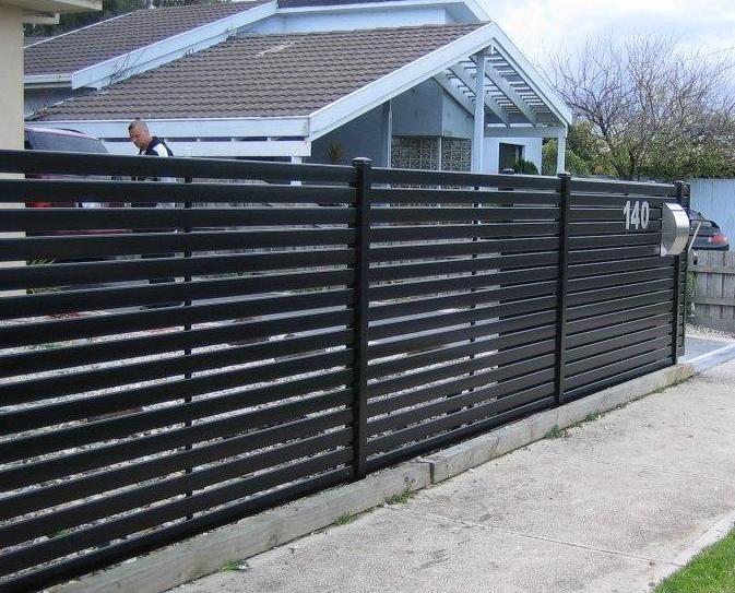 Metal Privacy Fence With Horizontal Slat Fencing Aluminium Slat