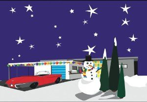 Amazon.com: Retro Starry Night - Boxed Holiday Christmas Greeting Cards - Set of 10 Cards and Envelopes: Health & Personal Care