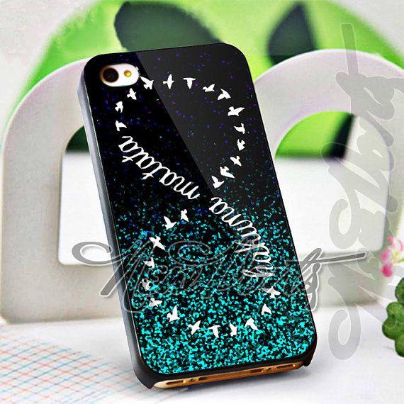 Mint Glitter Hakuna Matata  iPhone 4/4s/5/5s/5c Case  by 1newport, $14.75