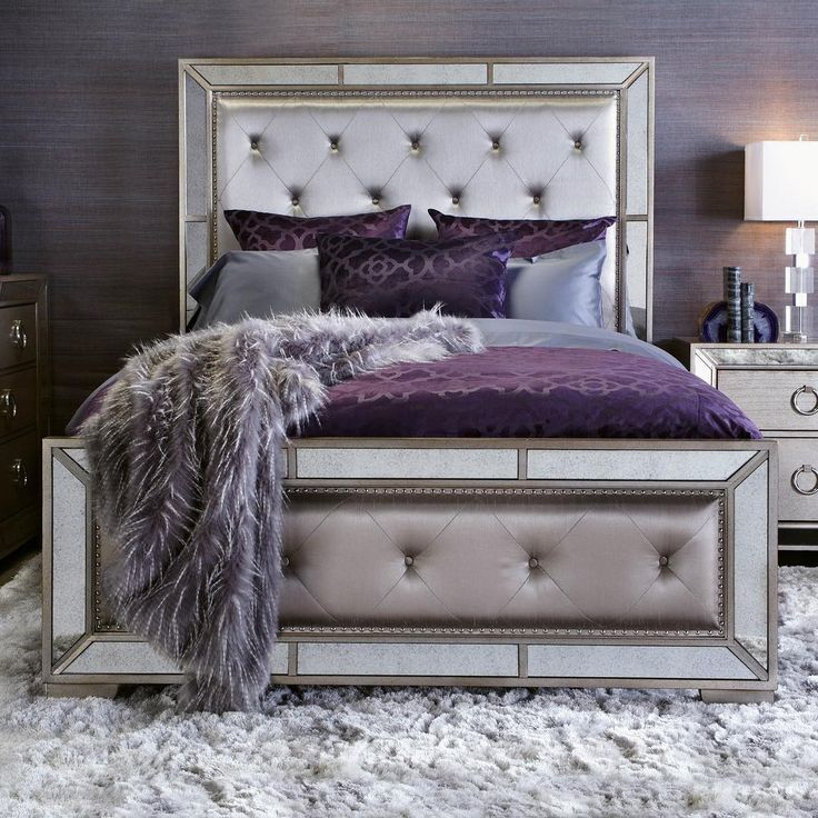 purple and silver Bedroom | 25+ best ideas about Purple Black ...