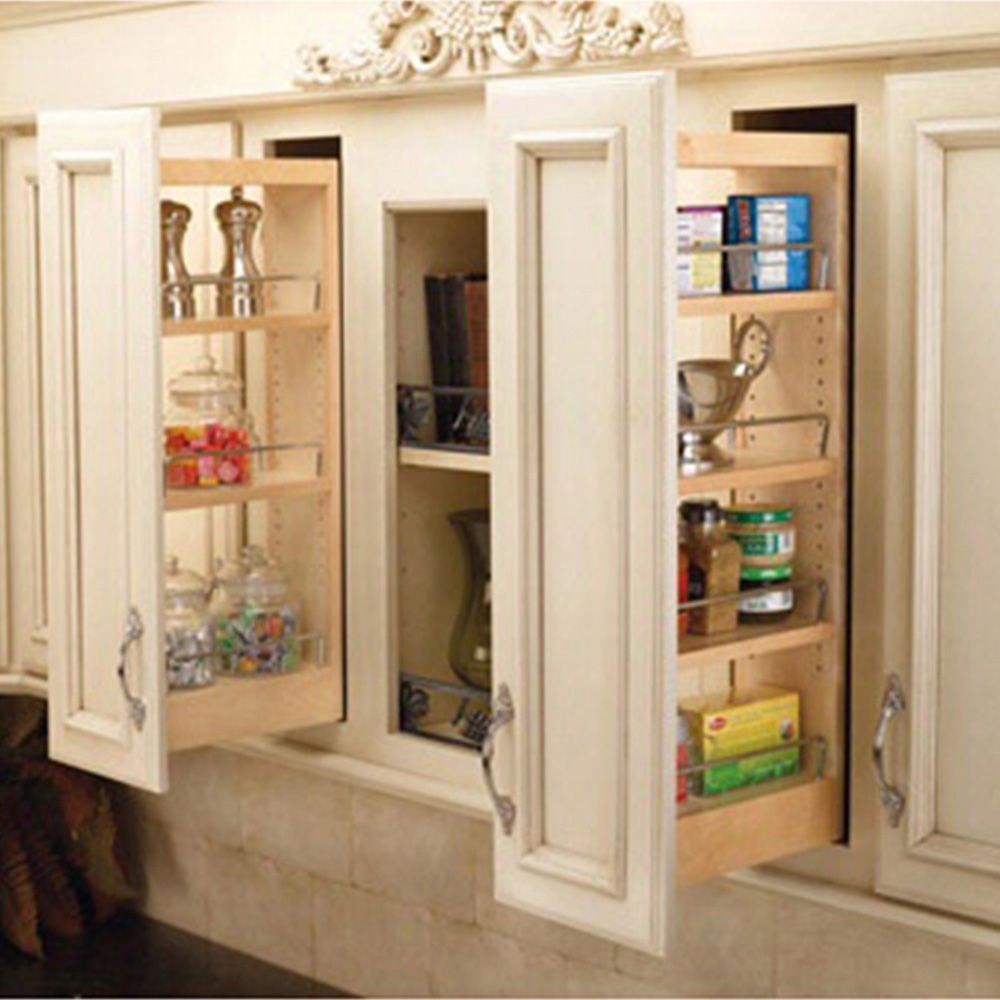 Wall Cabinet Wood Pullout Organizers, Rev-a-Shelf 448 Series