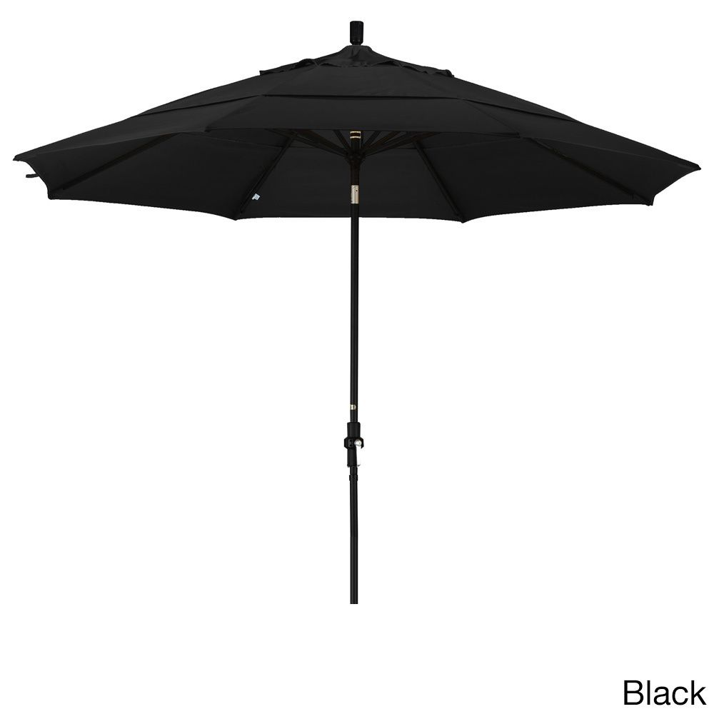 California Umbrella 11' Rd. Market Umbrella, Crank Lift, Collar Tilt, Dbl Wind Vent, Finish, Olefin Fabric