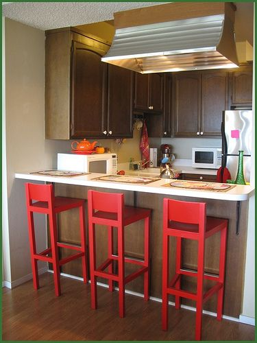 small space kitchen design for modern kitchen | l-shape bar