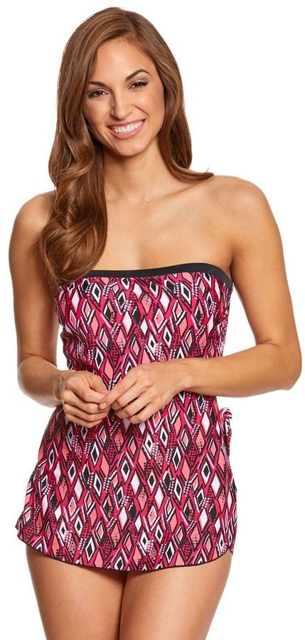 acf51922d7 Maxine Geo Gem Bandeau Sarong One Piece Swimsuit 8150314 | Products
