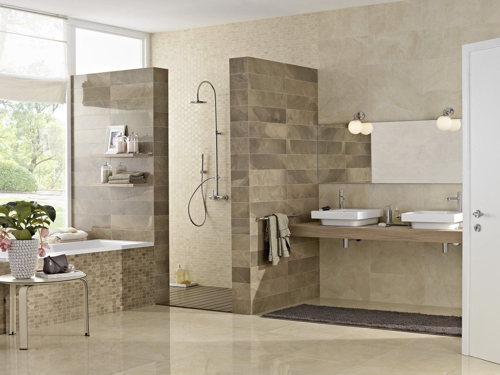 Download The Catalogue And Request Prices Of Evolutionmarble Mosaic By Marazzi Porcelain Ston Best Bathroom Designs Bathroom Interior Design Simple Bathroom